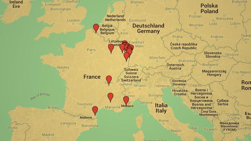 La carte des profanations antisémites depuis 1984