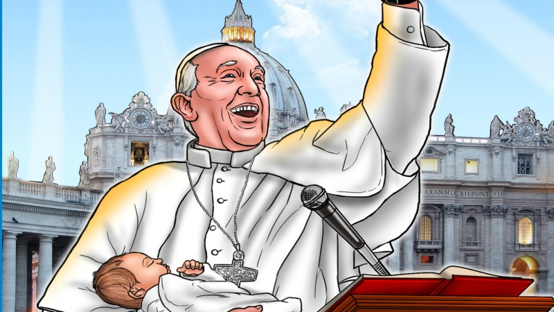 Vous aussi, coloriez le pape et Oussama