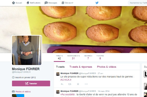 Profil twitter de Monique Führer