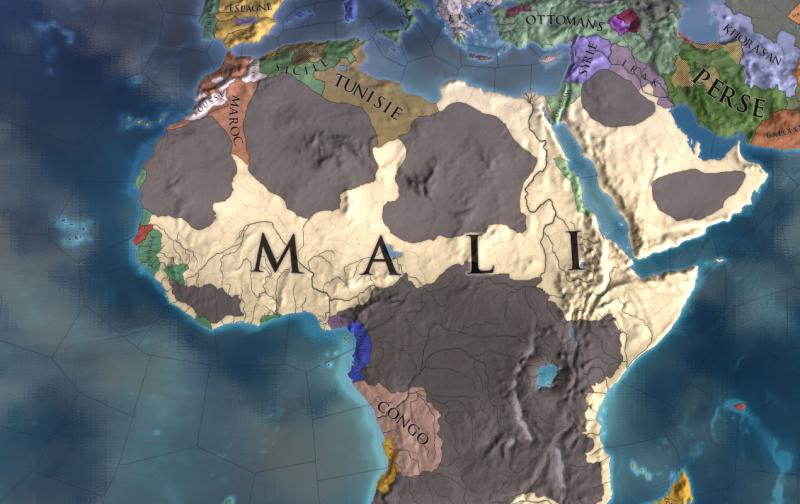 L'Afrique en 1821, après quatre siècles de jeu