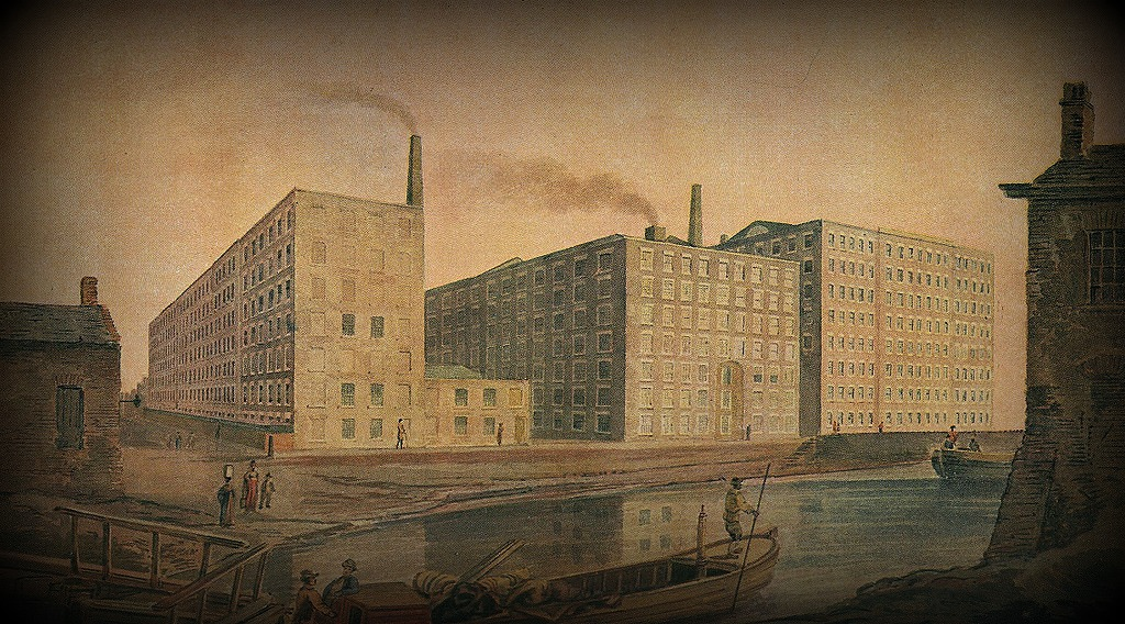 Filature de coton vers 1820 (Manchester, Royaume-Uni) -  A Century of fine Cotton Spinning, 1790-1913. McConnel & Co. Ltd.