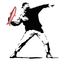Banksy et Poisson Rouge
